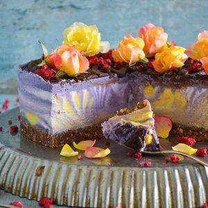 Mango Maqui Vanilla Cheesecake