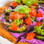 Colorful Quinoa Crust Pizza