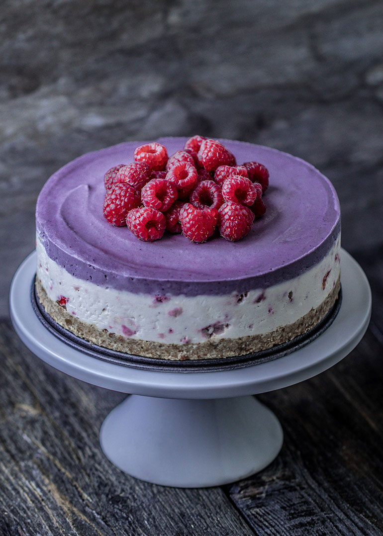 Coconut Maqui Berry Cheesecake