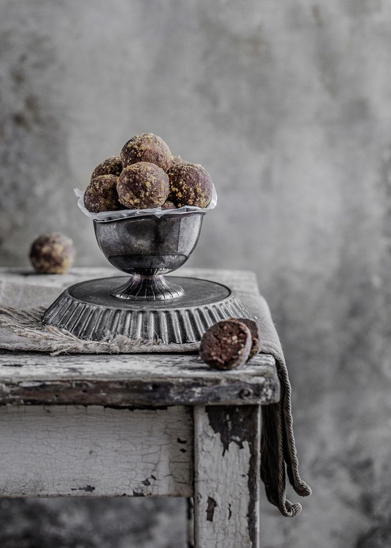 Chickpea Peanut Chocolate Truffles