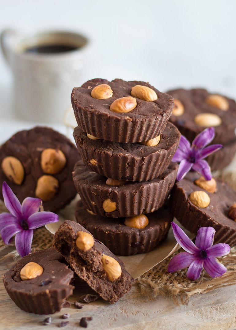 Chickpea Chocolate Fudge Bites
