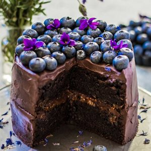 Double Chocolate Cake with Apricot Jam