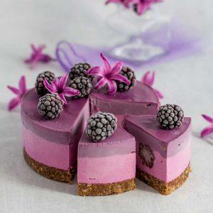 Pitaya Black Goji Cheesecake
