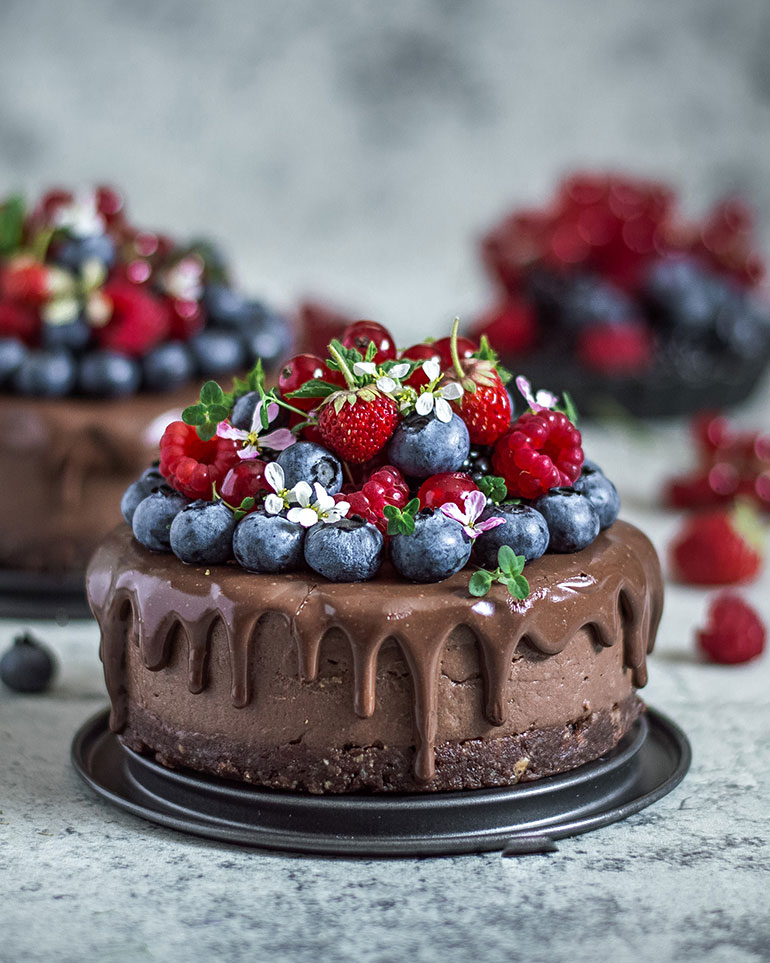 Chickpea Chocolate No-Bake Cake