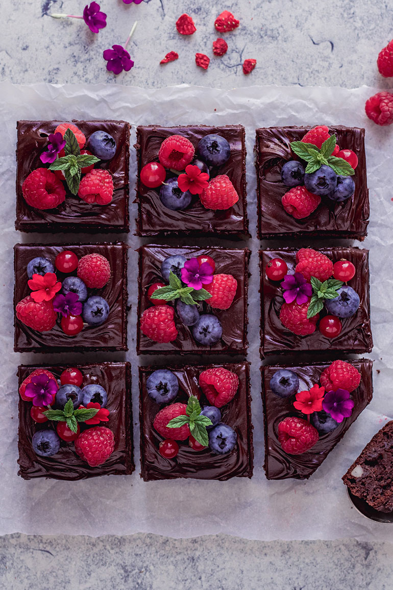 Chocolate Teff Almond Brownies