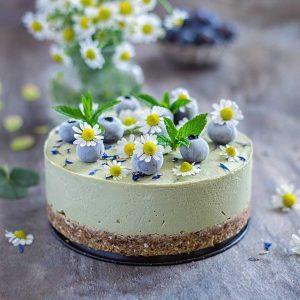 Matcha Avocado Lemon Cheesecake