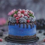 Blue Spirulina Mini Cheesecake