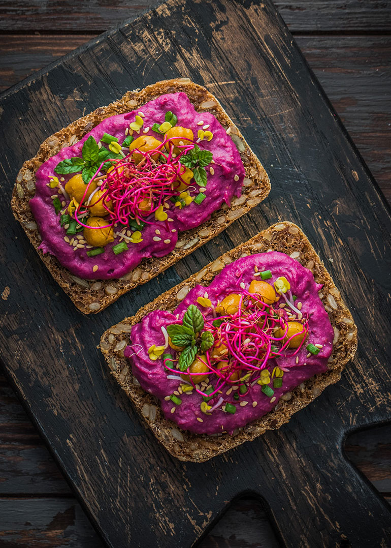 Purple Sweet Potato Hummus