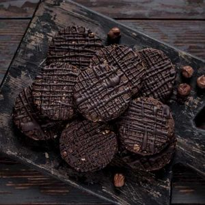 Chickpea Chocolate Hazelnut Cookies