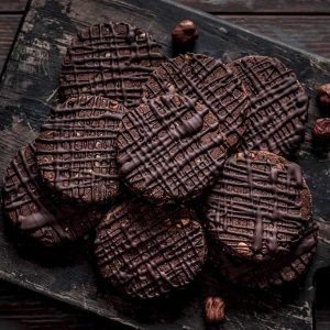 Chocolate Chickpea Hazelnut Cookies