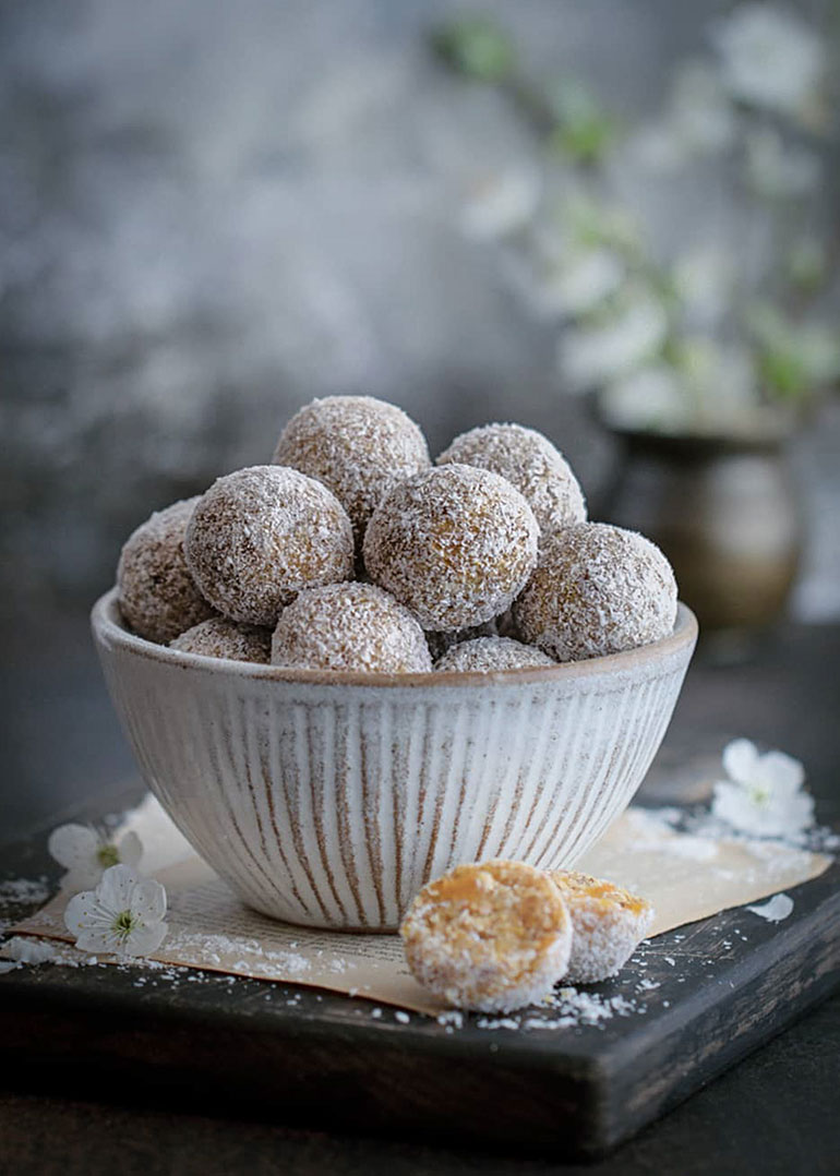 Apricot Coconut Bliss Balls