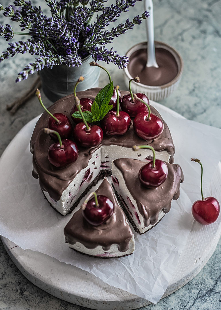 Cherry Coconut & Chocolate Cake