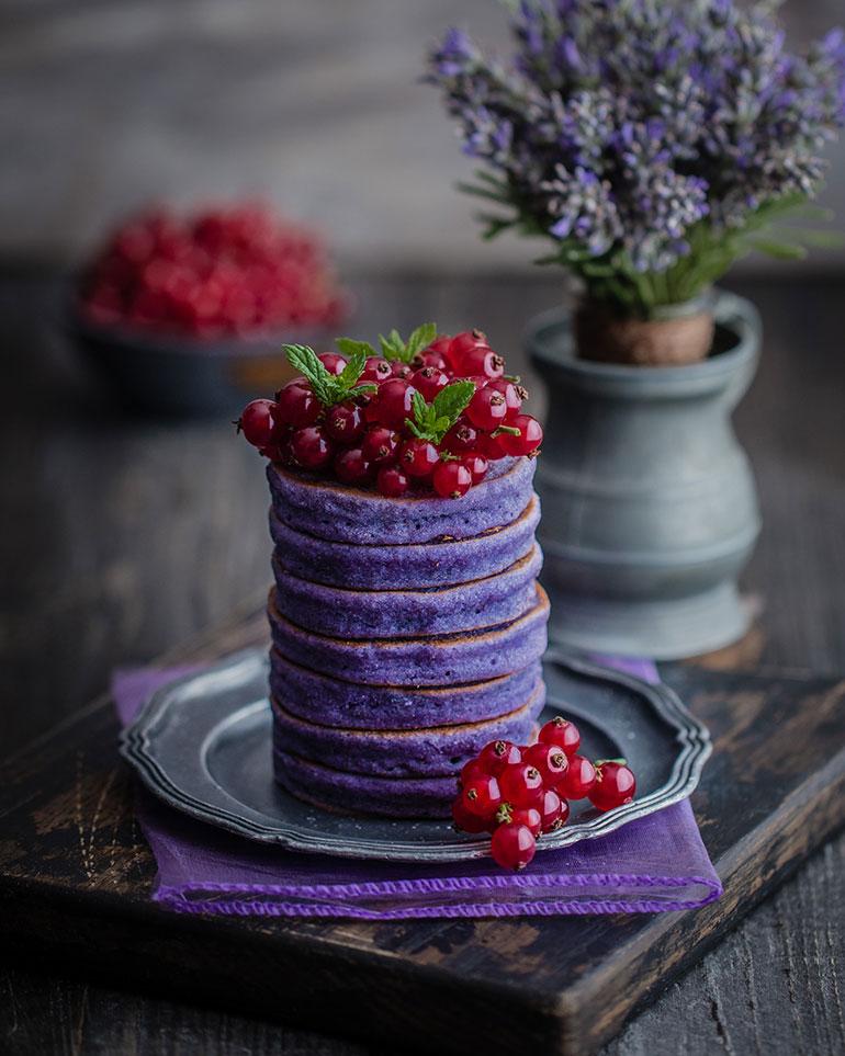 Gluten-Free Purple Pancakes