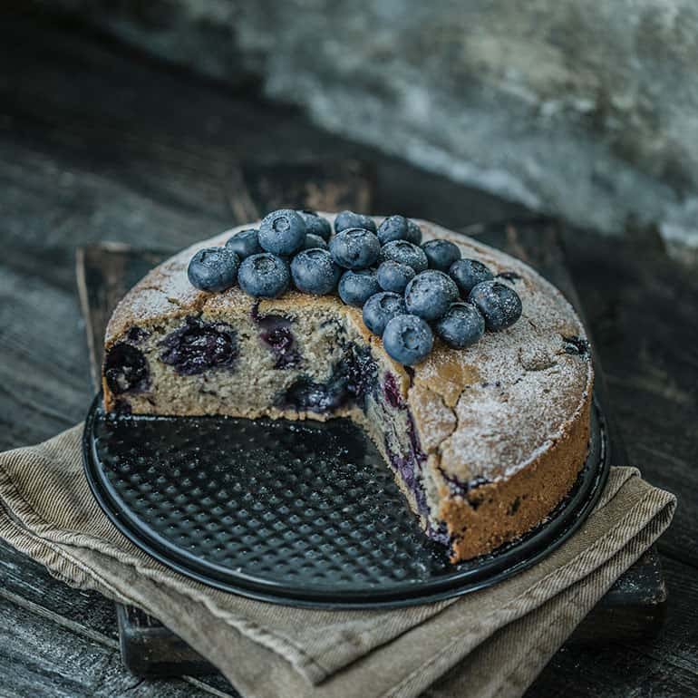 Gluten-Free Vegan Blueberry Cake