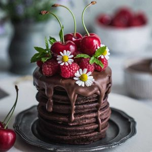 Buckwheat Flour Chocolate Pancakes