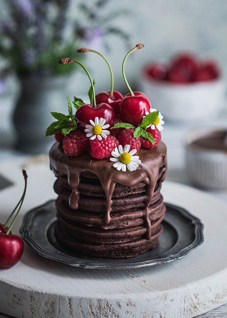 Buckwheat Flour Chocolate Pancakes