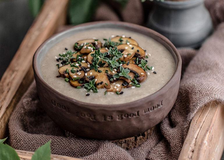 White Sweet Potato Mushroom Soup