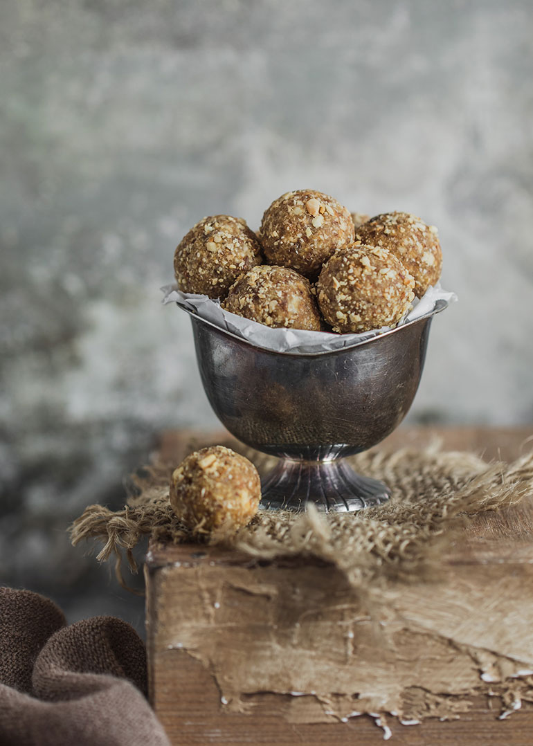 Hazelnut Cashew Bliss Balls
