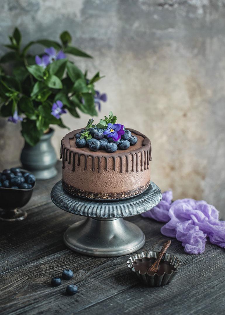 Dark Chocolate Mini Cheesecake