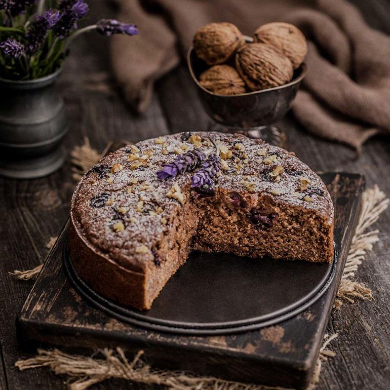 Teff Apple and Walnut Cake