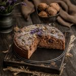 Teff Apple Walnut Cake