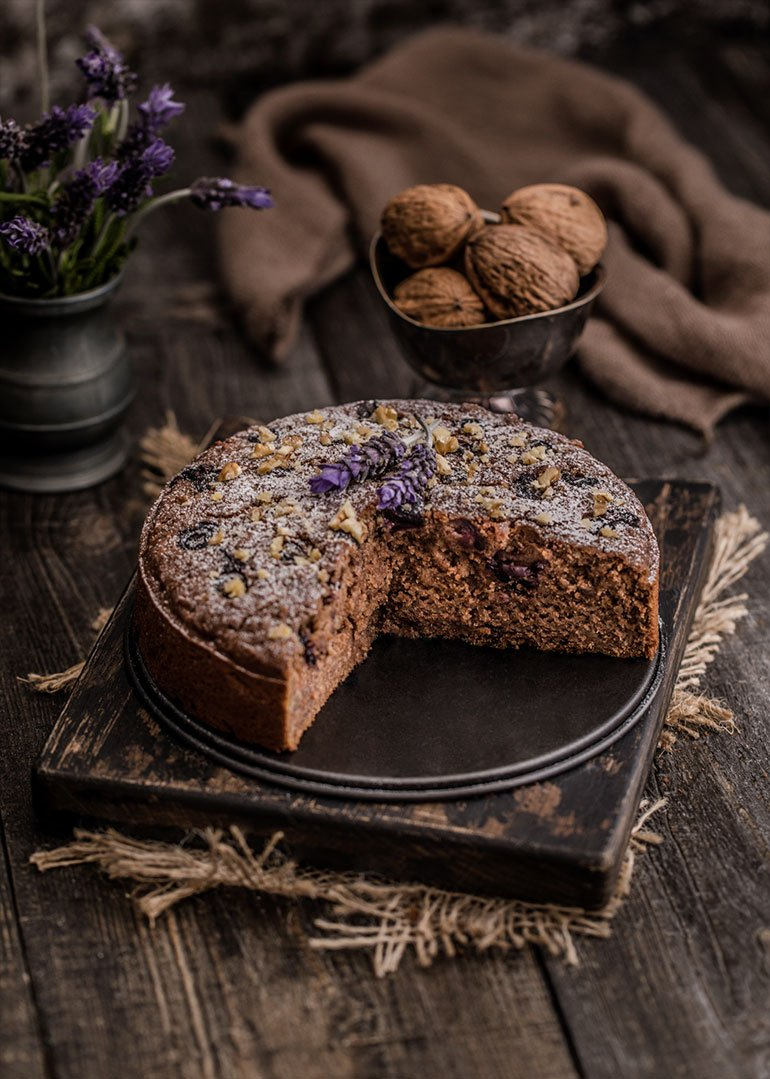 Teff Apple Walnut Cake