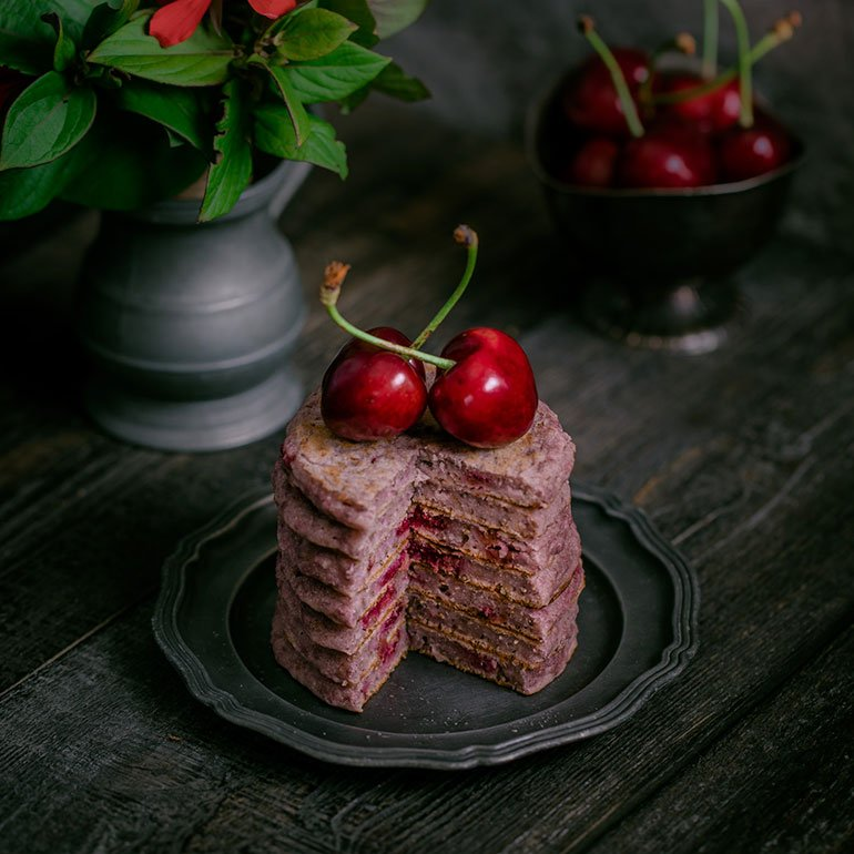 Sour Cherry Pancakes