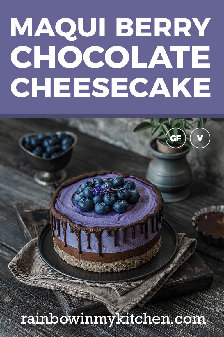 Maqui Berry Chocolate Cheesecake