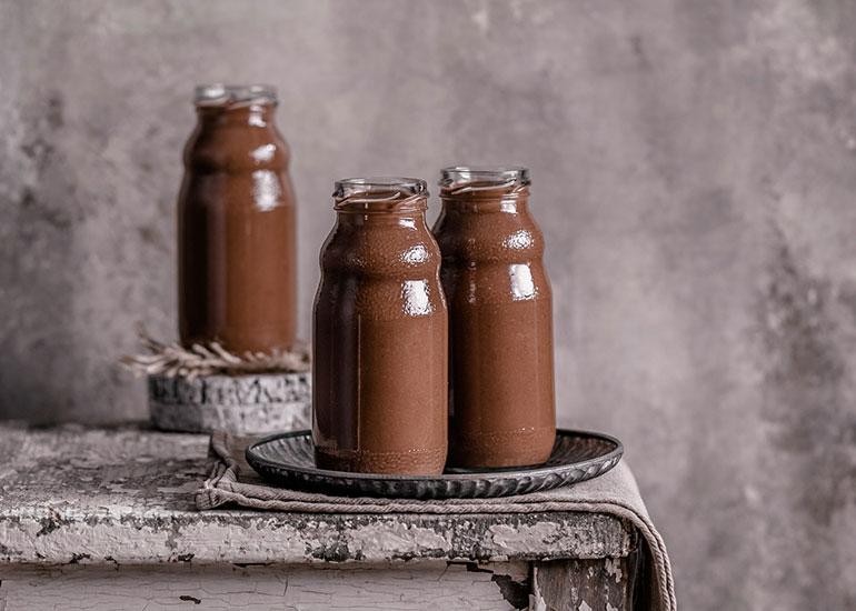 Vegan Chickpea Chocolate Milkshake