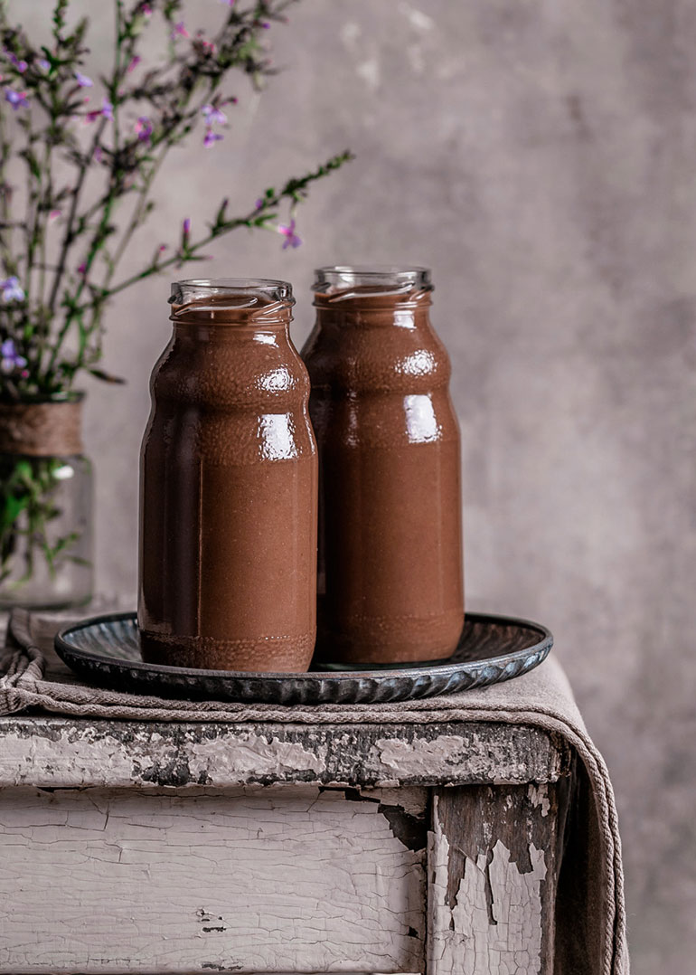 Vegan Chickpea Chocolate Milkshake