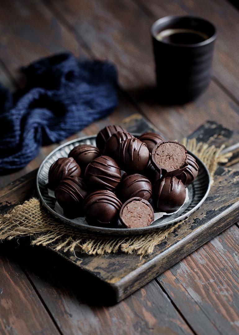 Chickpea Chocolate Hazelnut Truffles