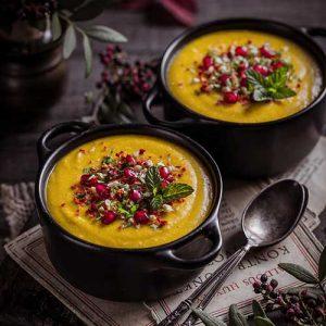 Roasted Squash and Lentil Soup