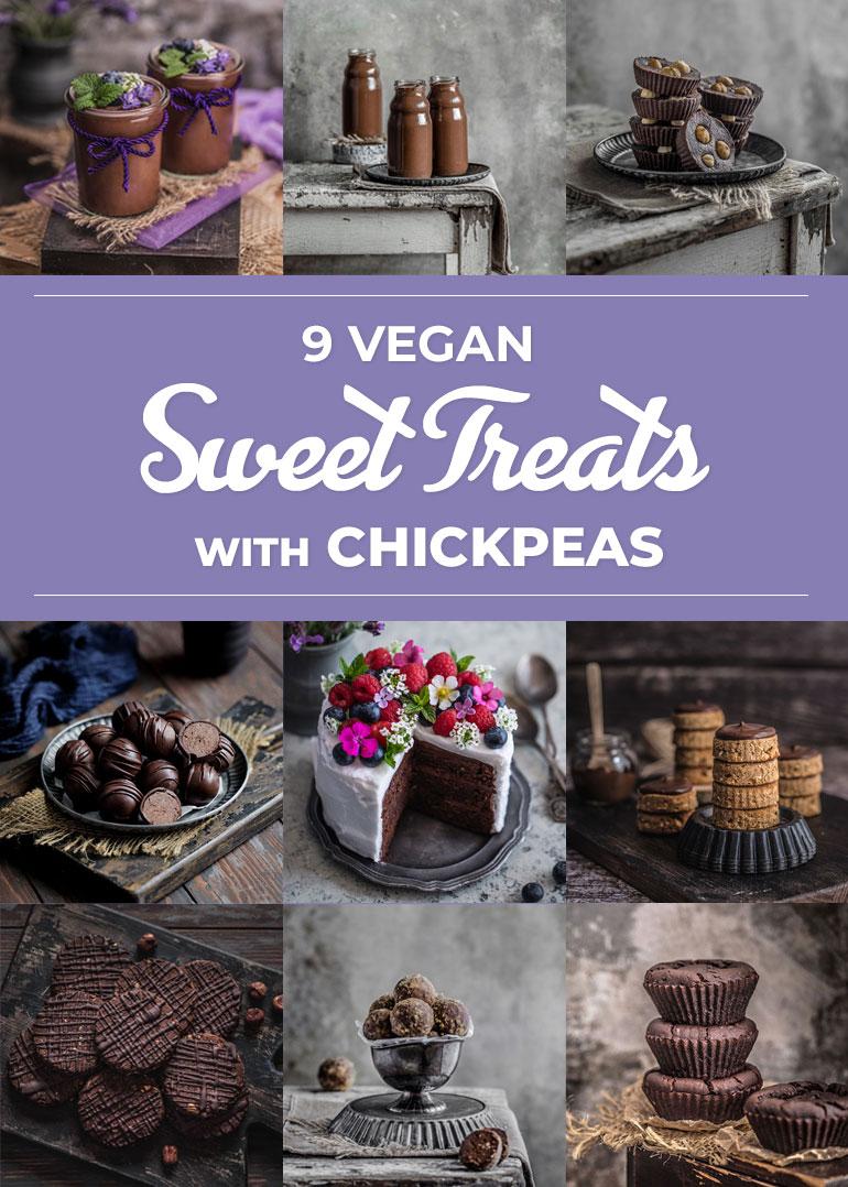 9 Vegan Sweet Treats with Chickpeas