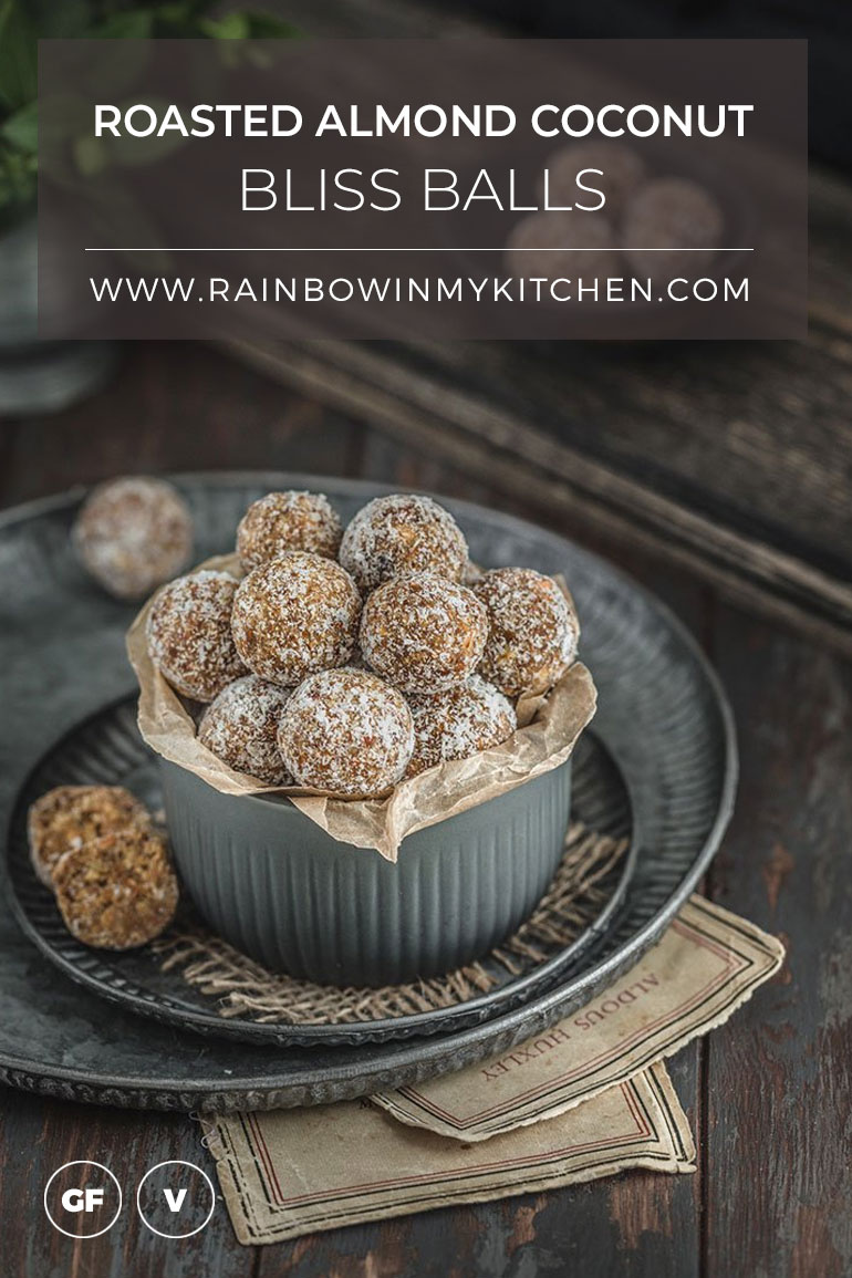 Roasted Almond Coconut Bliss Balls