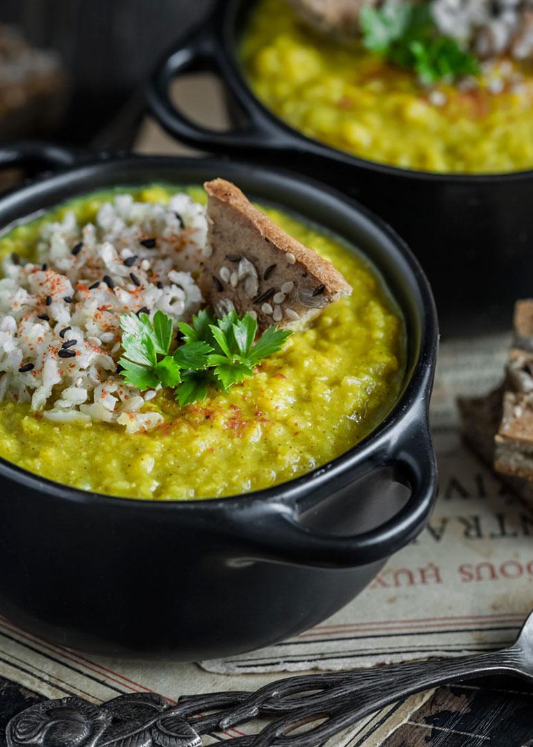 Mung Dal Cabbage Stew