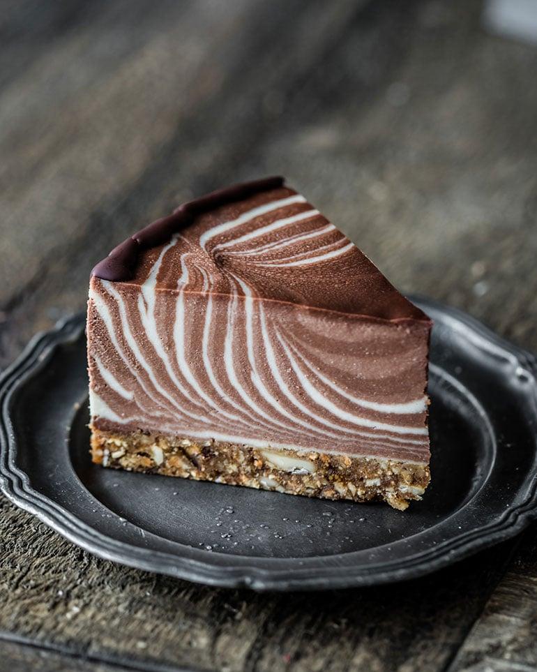 Vegan Zebra Ice Cream Cake