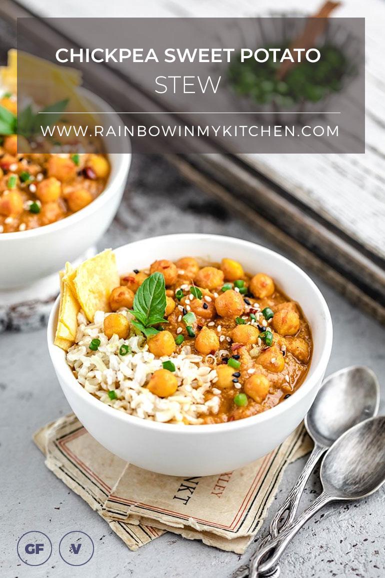 Chickpea Sweet Potato Stew Pinterest
