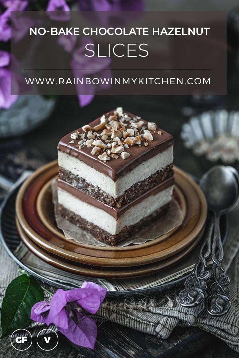 No-Bake Chocolate Hazelnut Slices