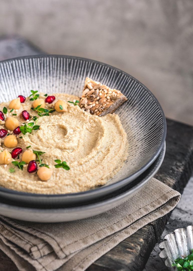 Tahini-Free Roasted Eggplant Hummus