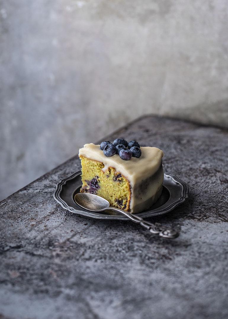 Lemon Coconut Blueberry Cake