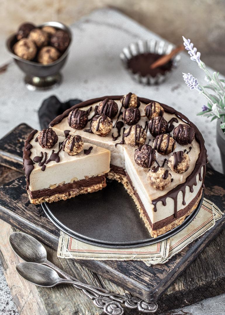 Peanut Butter Chocolate No-Bake Cheesecake